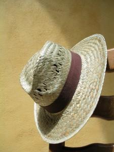 Chapeau de paille, protection solaire